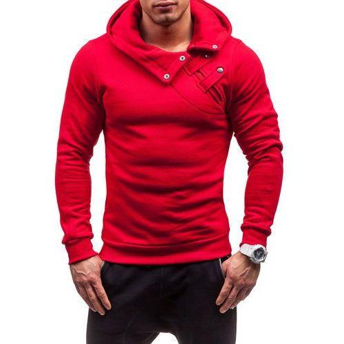 Czerwona bluza męska z kapturem Bolf 06S - CZERWONY, BOLF