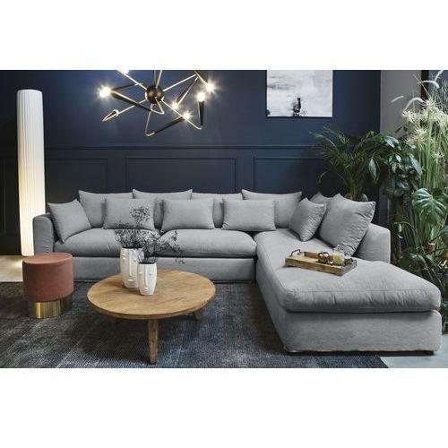 Sofa narożna prawostronna nicea szara marki 9design