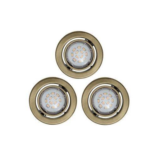 Eglo 93239 - ZESTAW 3x LED oprawa wpuszczana IGOA 3xGU10/5W/230V brąz
