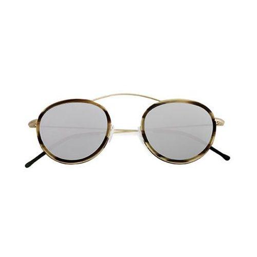 Okulary Słoneczne Spektre Metro 2 Flat MR02BFT/Gold/Havana Caffe Latte (Silver Mirror), kolor żółty