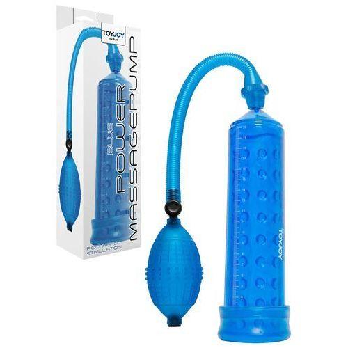 Toy joy Pompka z wypustkami powiększająca penisa power massage pump blue 6010223