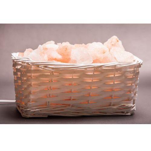 Zdrowie natury Lampa solna kosz wiklinowy biały