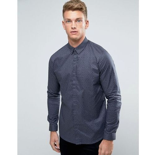 shirt with spot print in grey in regular fit - grey marki New look