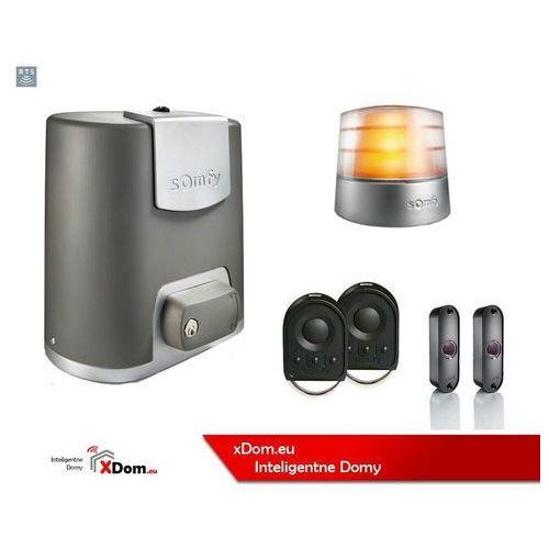 Elixo 500 230v comfort+ pack (2 piloty 4-kanałowe keygo, lampa master pro, fotokomórki) marki Somfy