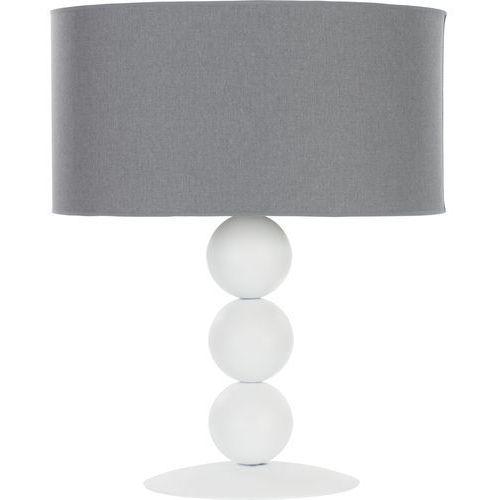 Lampa biurkowa edith 6331 s lampka 60w e27 biała/szara marki Nowodvorski