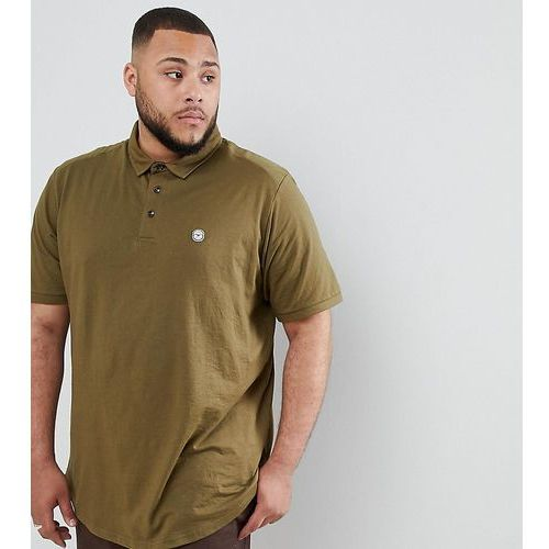 Le Breve PLUS Curved Hem Polo with Back Panelling - Green, kolor zielony