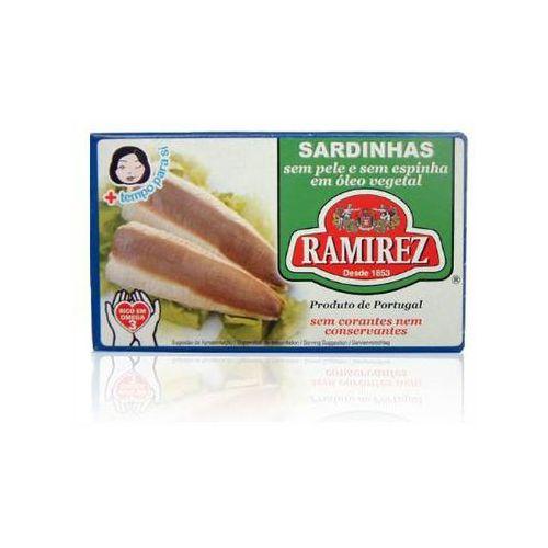 Ramirez Sardynki portugalskie bez skóry i bez ości w oleju roślinnym 125g