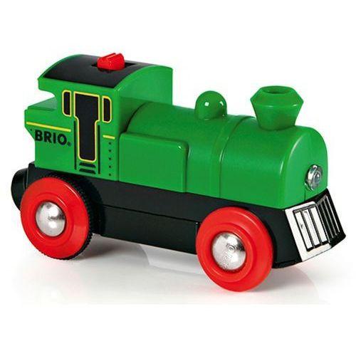 elektroniczna zielona lokomotywa 33595, marki Brio