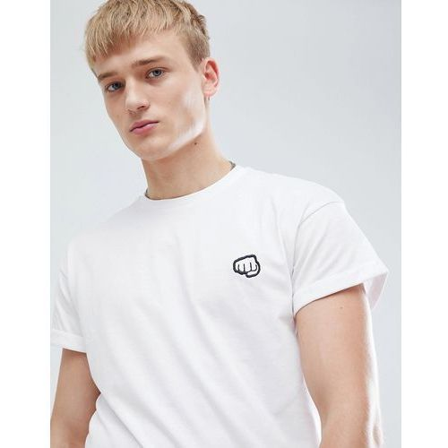 t-shirt with fist pump embroidery in white - white, New look, XS-XL