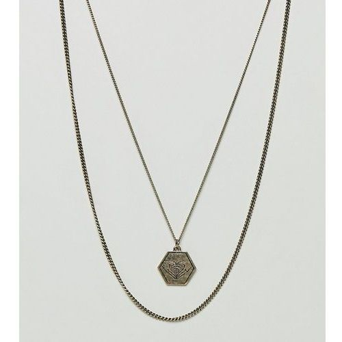 inspired pendant & chain necklace in 2 pack exclusive to asos - gold marki Reclaimed vintage