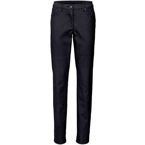 Spodnie ze strukturalnego twillu ze stretchem STRAIGHT  czarny marki bonprix