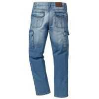 Dżinsy bojówki Regular Fit Straight bonprix niebieski, kolor niebieski