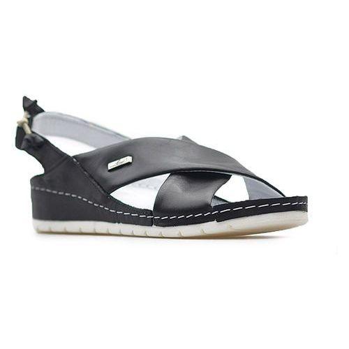 Sandały Lemar 50056 Czarne lico, kolor czarny