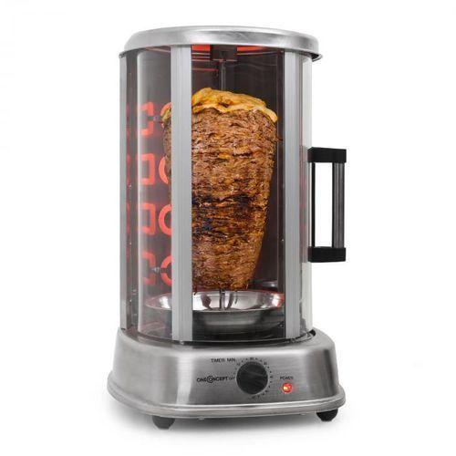 Oneconcept kebap master pro grill pionowy, rożno,1500 w (4260322376726)