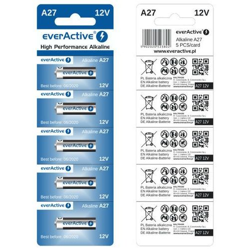 Everactive 5 x baterie alkaliczne  a27 12v