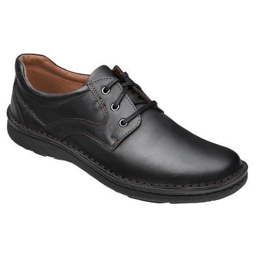 Półbuty sznurowane buty KRISBUT 4398-8-9 Czarne - Czarny (0000439889405)
