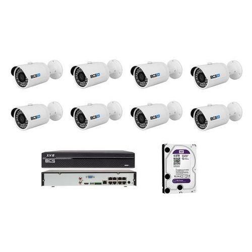 BCS-TIP3130IR-E Zestaw BCS na 8 kamer 1,3 Mpx 4TB HDD Rejestrator PoE. Idealny do obserwacji domu, sklepu, ogrodu lub firmy.