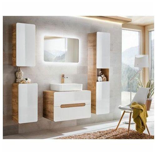 Komplet wiszących mebli łazienkowych borneo 4q 60 cm - biały połysk marki Producent: elior