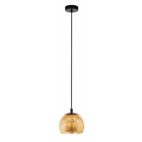 albaraccin 98524 lampa wisząca zwis oprawa 1x40w e27 czarna/ złota marki Eglo