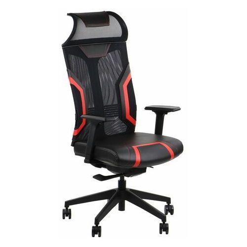 Fotel gamingowy obrotowy do komputera RYDER EXTREME BLACK/RED
