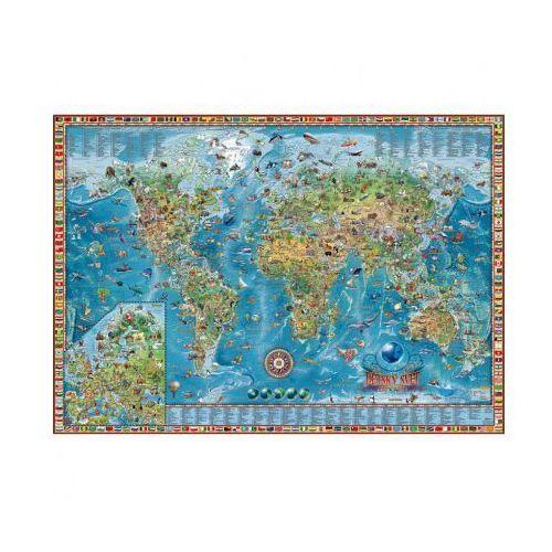 Dziecięcy świat - ilustrowana mapa świata, rama aluminiowa marki B2b partner