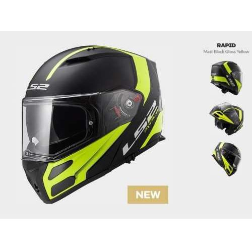 Kask ff324 metro rapid black yellow marki Ls2