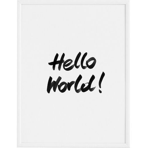 Plakat hello world! 21 x 30 cm marki Follygraph