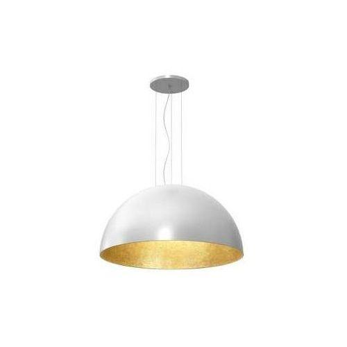 Luminex compo 1684 lampa wisząca zwis 1/2 kula dia 1000 1x60w e27 biały złoty (5907565916843)