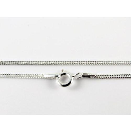 Srebrny (925) łańcuszek LISI OGON 60 cm, kolor szary
