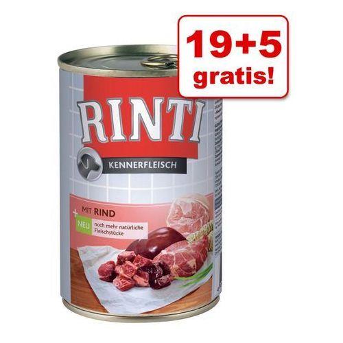Rinti 19 + 5 gratis! pur, 24 x 400 g - konina| darmowa dostawa od 89 zł i super promocje od zooplus!