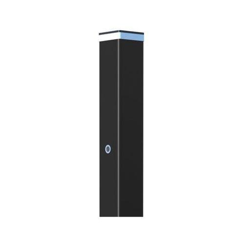 Polargos Słupek bramowy z lampą led 10 x 10 x 220 cm czarny (5902360114531)
