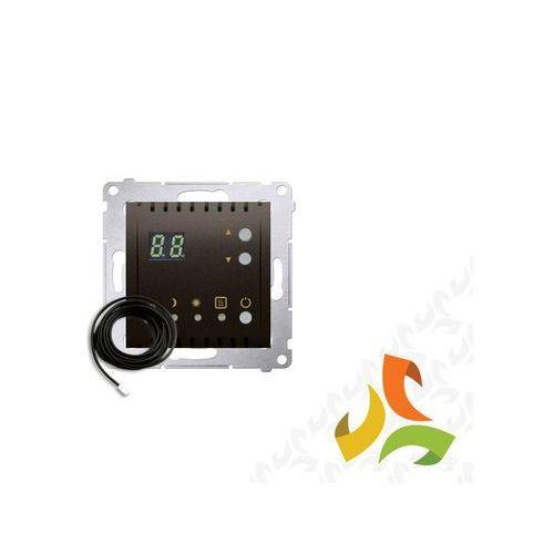Regulator temperatury z wyświetlaczem, zewnętrzny czujnik temperatury - sonda 16a, 230v, brąz mat dtrnsz.01/46 simon 54 premium marki Simon kontakt