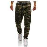 Spodnie męskie dresowe baggy moro-multikolor denley 3769a marki Crws dnm