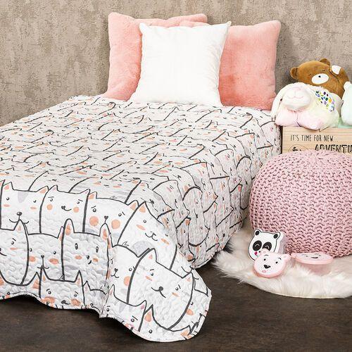 4Home Dziecięca narzuta na łóżko Koty, 140 x 200 cm, 228985
