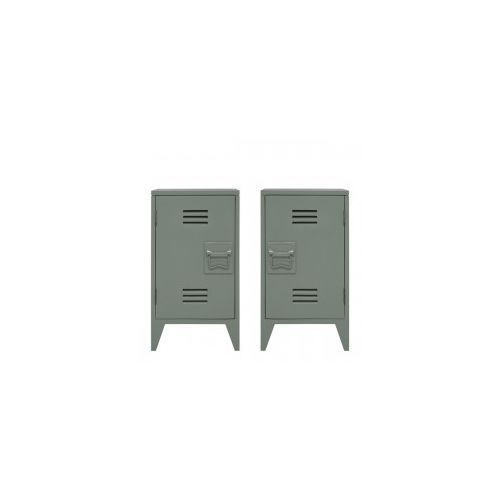 Zestaw szafek nocnych oliwkowe - HK Living