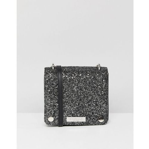Carvela Rhonda Glitter Across Body Bag - Silver, kolor szary