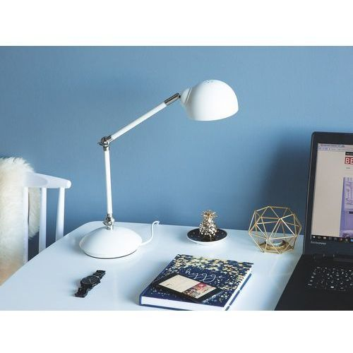 Lampa biurkowa regulowana biała HELMAND