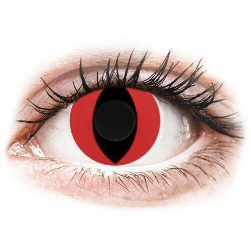 Crazy lens - cat eye red - jednodniowe zerówki (2 soczewki) marki Gelflex