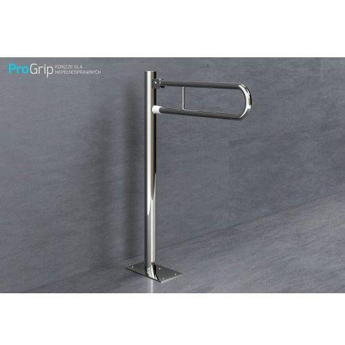 Poręcz słupkowa uchylna stal nierdzewna połysk Ø 25 mm, długość 700 mm, PSP/25/709