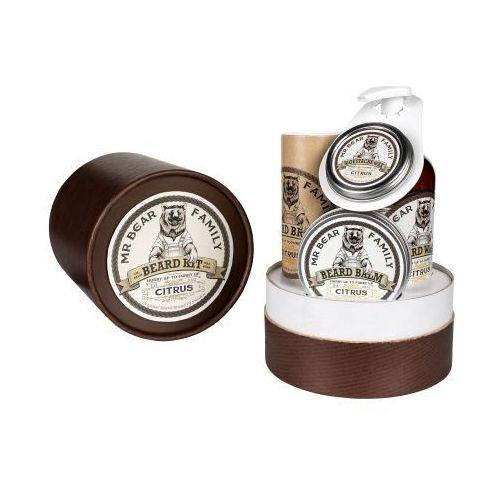 citrus zestaw prezentowy w tubie do brody i wąsów wyprodukowany przez Mr bear family