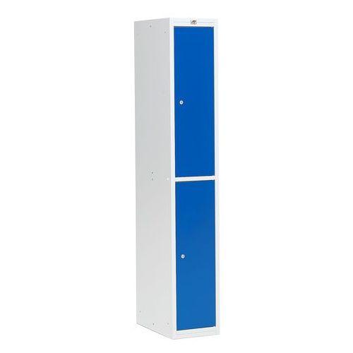 Szafa ubraniowa COACH, 300 mm, 2 drzwi, szary, niebieski, 116252