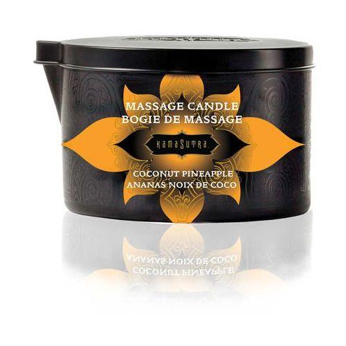 Świeca zapachowa do masażu bez parfiny - kama sutra massage candle kokos i ananas - duża 170gram marki Kamasutra
