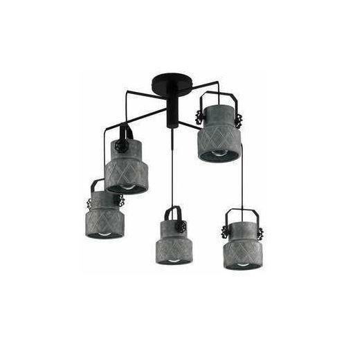 Eglo hilcott 39856 lampa wisząca zwis 5x40w e27 czarna/szara