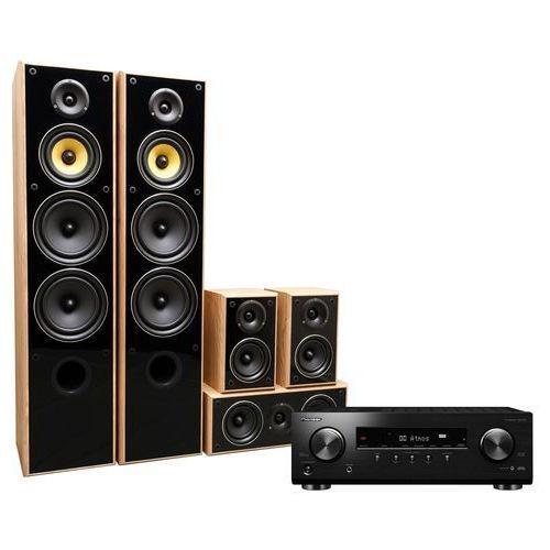 Kino domowe PIONEER VSX-534B + TAGA TAV606 Dąb, VSX534B/TAV606 OAK