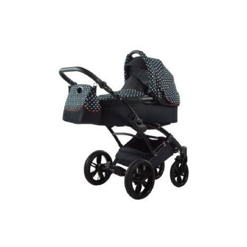 Knorr-baby wózek dziecięcy voletto kropki limited edition czarny-biały