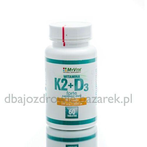 Tabletki WITAMINA K2 MK7, 100mcg + D3 2000IU, 60 tab., MyVita