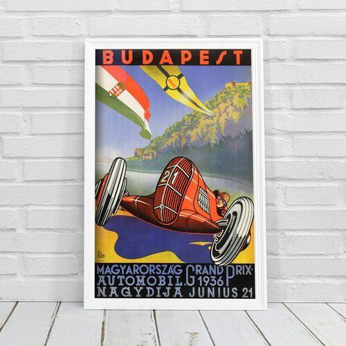 Retro plakat Retro plakat Budapest Magyarorszag Grand Prix Automobil