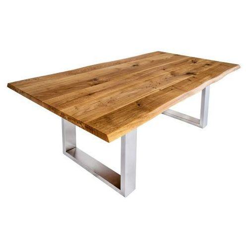 design stół dębowy ferrum nogi ze stali nierdzewnej marki Signu