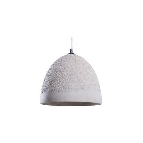 Lampa wisząca betonowa szara GLAN
