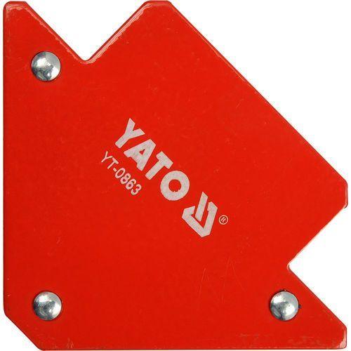 Spawalniczy kątownik magnetyczny 82x120x13 mm / YT-0863 / YATO - ZYSKAJ RABAT 30 ZŁ (5906083908637)
